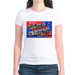 Camp Maxey Texas (Front) Jr. Ringer T-Shirt