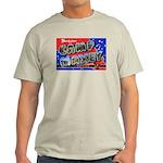 Camp Maxey Texas (Front) Ash Grey T-Shirt
