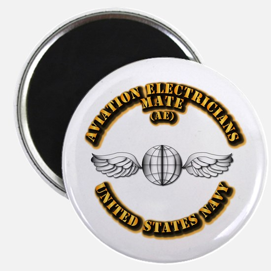 """Navy - Rate - AE 2.25"""" Magnet (10 pack)"""