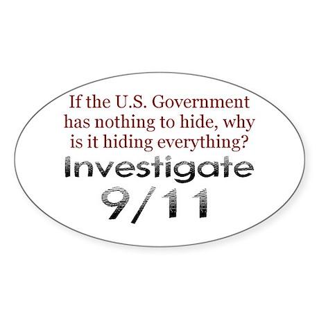 Investigate 9/11 Oval Sticker