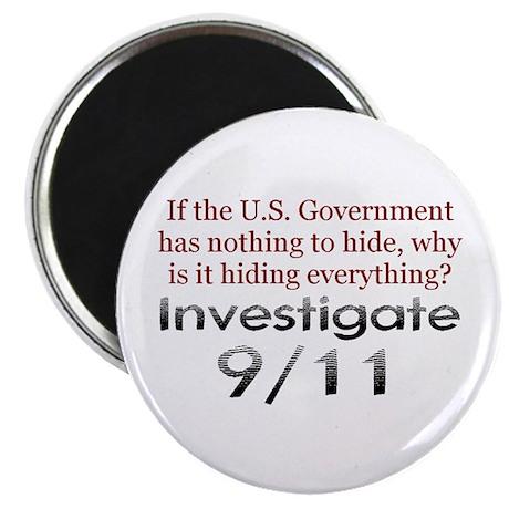 "Investigate 9/11 2.25"" Magnet (100 pack)"