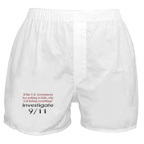 Investigate 9/11 Boxer Shorts