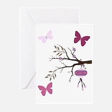 [cherry blossom Sakura girl] Greeting Cards (Packa