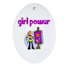 Girl Power Art Ceramic Ornament