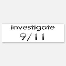Investigate 9/11 Now! Bumper Bumper Bumper Sticker