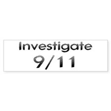 Investigate 9/11 Now! Bumper Bumper Sticker