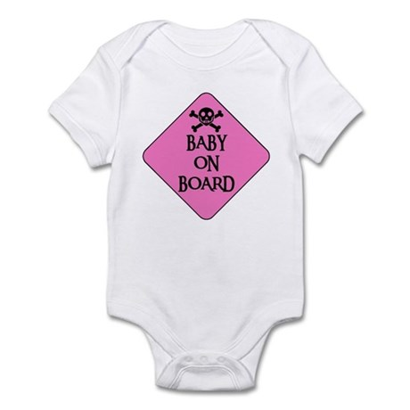 WARNING: BABY ON BOARD Infant Creeper