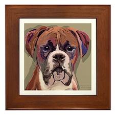 Boxer Dog Framed Art Tile