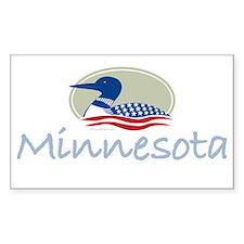Minnesota Proud Loon: Rectangle Decal