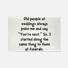 Old People Funerals Rectangle Magnet (10 pack)