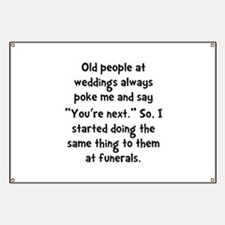 Old People Funerals Banner