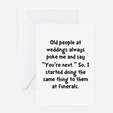 Old People Funerals Greeting Cards (Pk of 20)