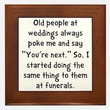 Old People Funerals Framed Tile