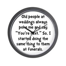 Old People Funerals Wall Clock