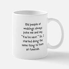 Old People Funerals Mug