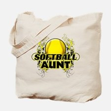 Softball Aunt (cross).png Tote Bag