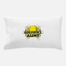 Softball Aunt (cross).png Pillow Case