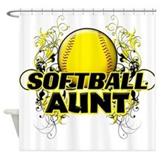 Softball Aunt (cross).png Shower Curtain