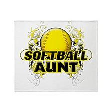 Softball Aunt (cross).png Throw Blanket