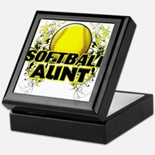 Softball Aunt (cross).png Keepsake Box