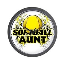 Softball Aunt (cross).png Wall Clock