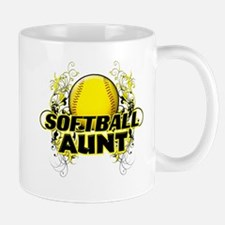 Softball Aunt (cross).png Mug