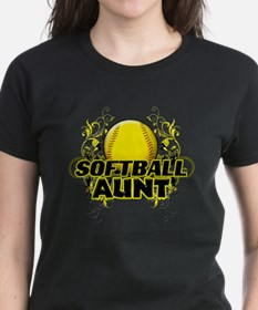 Softball Aunt (cross).png Tee