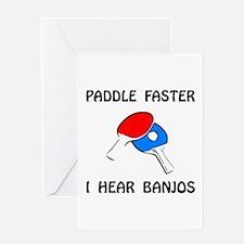 Paddle Faster Ping Pong Greeting Card
