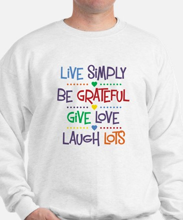Live Simply Affirmations Sweatshirt