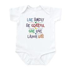 Live Simply Affirmations Infant Bodysuit