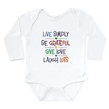 Live Simply Affirmatio Long Sleeve Infant Bodysuit