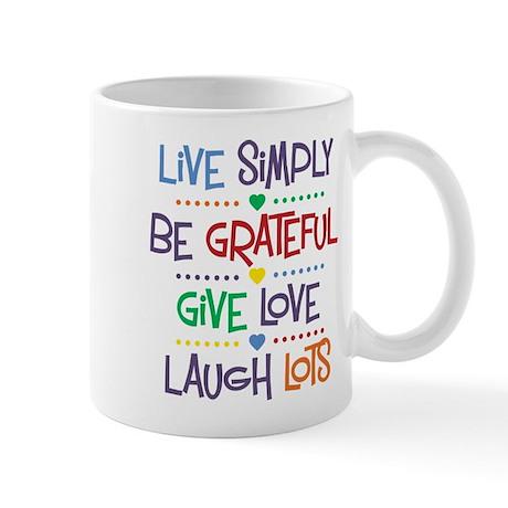 Live Simply Affirmations Mug