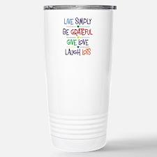 Live Simply Affirmation Travel Mug
