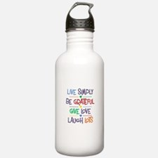 Live Simply Affirmatio Water Bottle