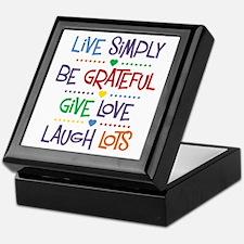 Live Simply Affirmations Keepsake Box