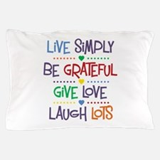 Live Simply Affirmations Pillow Case