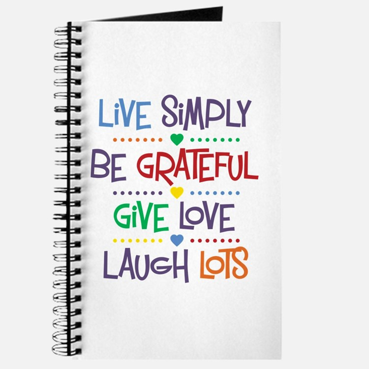 Live Simply Affirmations Journal