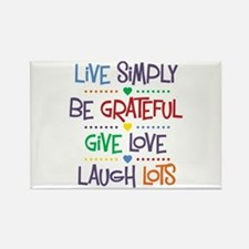 Live Simply Affirmations Rectangle Magnet
