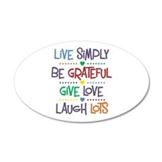 Live Simply Affirmations Wall Decal