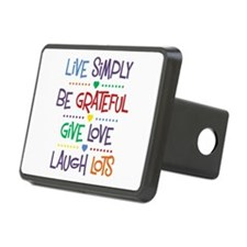 Live Simply Affirmations Hitch Cover
