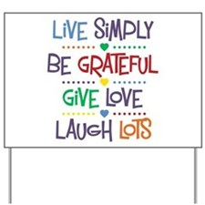 Live Simply Affirmations Yard Sign