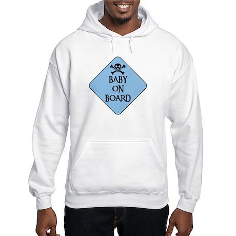 WARNING: BABY ON BOARD Hooded Sweatshirt