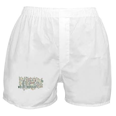 Why Am I Vegetarian Boxer Shorts