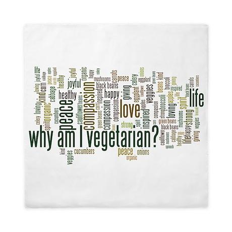 Why Am I Vegetarian Queen Duvet