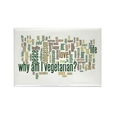 Why Am I Vegetarian Rectangle Magnet