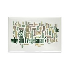 Why Am I Vegetarian Rectangle Magnet