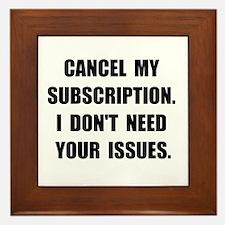 Subscription Issues Framed Tile