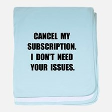 Subscription Issues baby blanket