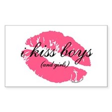 i kiss boys and girls Rectangle Decal