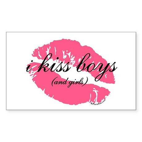 i kiss boys and girls Rectangle Sticker